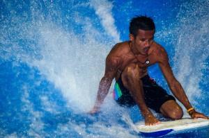 Thai Man Surfing At Kata Surf House (Surf House Phuket @ Kata Beach)