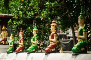Wat Phan Waen Fence Decorations (Wat Phan Waen, Чианг Май, Таиланд.)