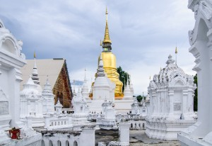 Wat Suan Dok Chedis 03 (Wat Suan Dok, Чианг Май, Таиланд.)