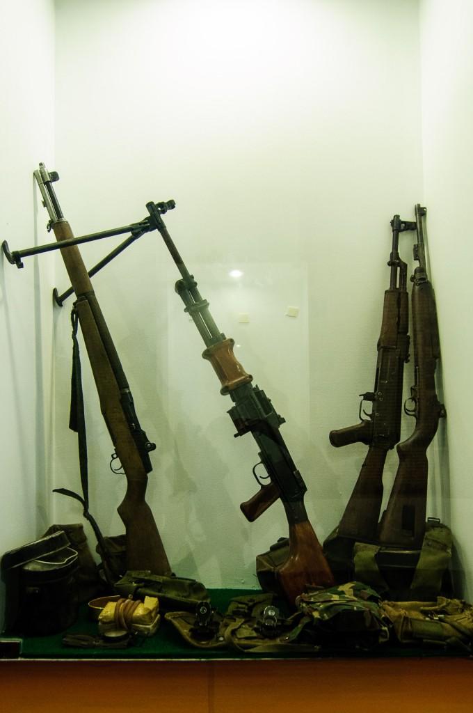 War Museum In Chiang Rai Automatic Gun (Какой-то военный музей в Чианг Рае.)