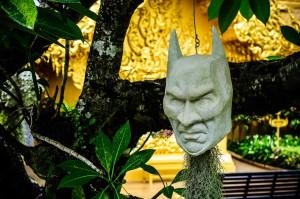 Wat Rong Khun Chiang Rai Batman Head As A Pot (Белый храм или Wat Rong Khun. Чианг Рай, Таиланд.)