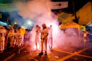 Evening Farewell To Gods Ritual Fireworks (Вечерний ритуал прощания с богами и шествие.)