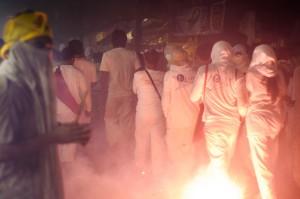 Evening Farewell To Gods Ritual Fireworks Blasts (Вечерний ритуал прощания с богами и шествие.)