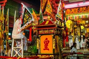 (Ночью в храме Jui Tui.)