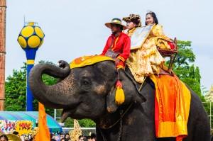 Elephant In One Of Ayuthaya S School (День спорта в одной из школ Айютайи.)