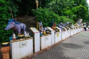 Animals In Phukao Thong (Золотая гора или Phukhao Thong, Бангкок.)