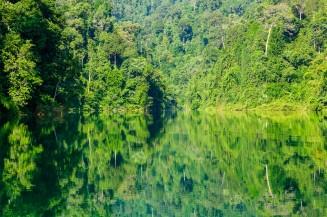 Зеркальное отражение в водах озера Чео Лан.