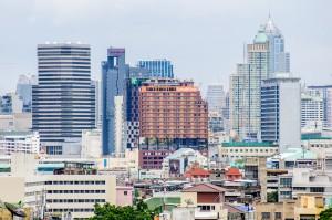One More Bangkok Cityscape From Golden Mountain (Золотая гора или Phukhao Thong, Бангкок.)