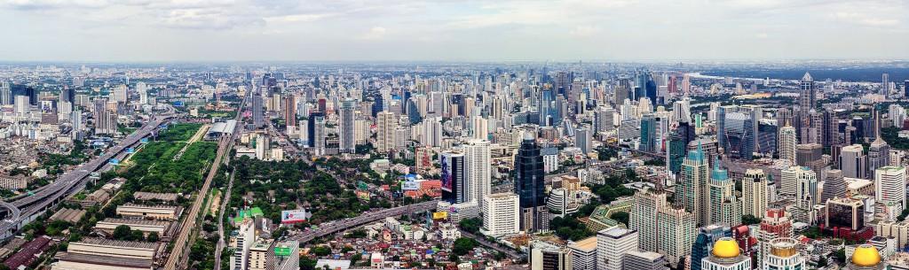 Панорамный вид с самого высого здания Бангкока