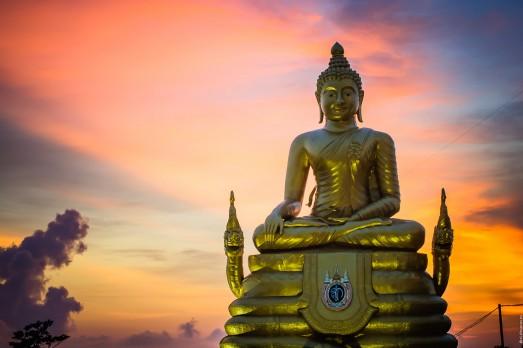 Закат со смотровой площадки у Большого Будды.