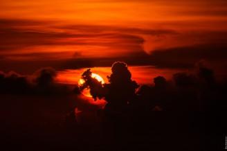 Закат со смотровой площадки большого Будды на Пхукете.