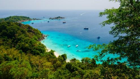 Симиланские острова – вид со смотровой площадки.