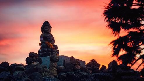 Phomthep cape. Мыс Пхомтхеп –  закат на фоне Будды