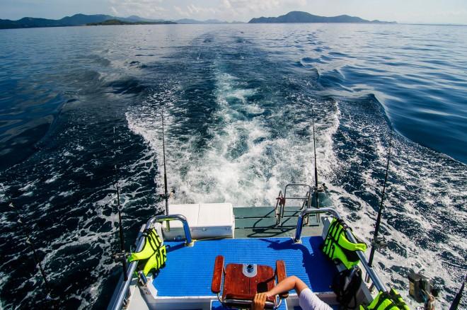 Палуба нашей лодки.