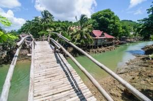 Бамбуковый мостик и речушка (Остров Ко Яо Ной)