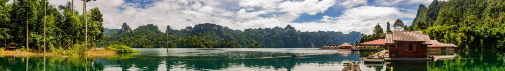 Панорама озера Чео Лан из рафт-хауса Сай Чол