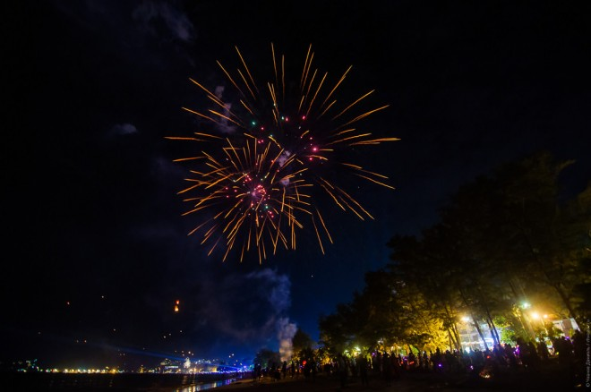 Пляж Патонг в Новый год.