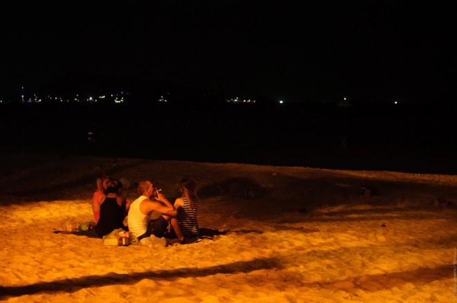 Новогодние посиделки на пляже