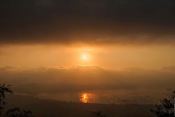Вид на затмение со смотровой площадки Большого Будды